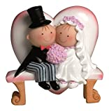Mopec Y460–Decorazione per torta, coppia di sposi Pit & Pita su una panchina, 15,5cm