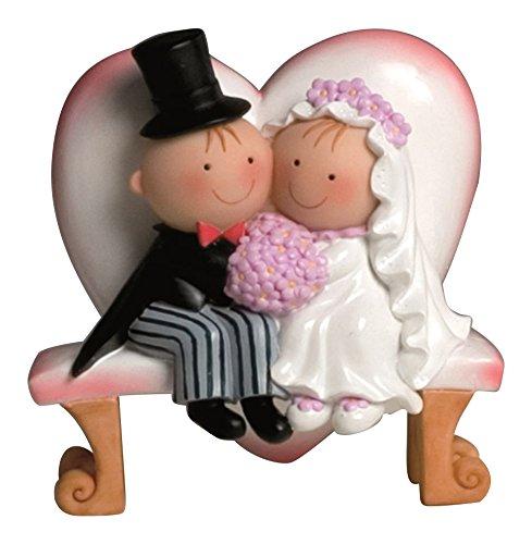 Mopec Y460 - Cake Figure Couple of Boyfriends Pit & Pita on a bench, 15,5 cm