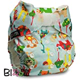"LittleBloom, Reusable Pocket Cloth Nappy, Fastener: Hook-Loop, Set of 1, Pattern 58, Without Insert, (see ""Special Offers and Product Promotions"" for Special Offers Detail)"