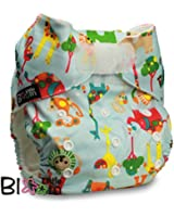 """LittleBloom, Reusable Pocket Cloth Nappy, Fastener: Hook-Loop, Set of 1, Pattern 58, Without Insert, (see """"Special Offers and Product Promotions"""" for Special Offers Detail)"""