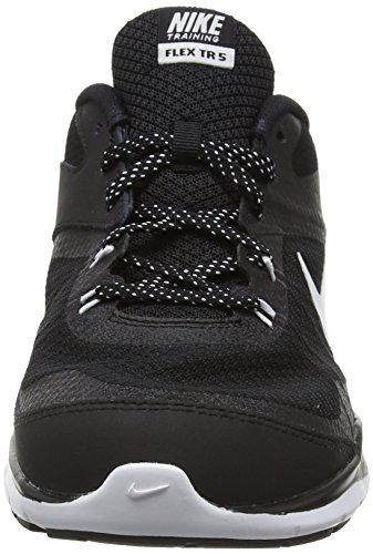 Nike Damen Wmns Flex Trainer 5 Gymnastikschuhe, Pink, UK Schwarz (Black/White-Anthracite)