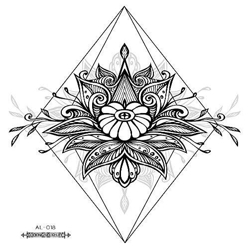 Umweltschutz wasserdicht Schweiß ursprüngliche Blume Arm Tattoo Aufkleber Totem Foto Abdeckung 3Pcs-18 große Blume Arm Tattoo 210 & Zeiten;150mm Godinger Crystal