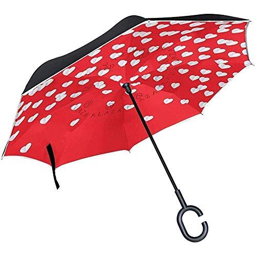 Seltsame Stethoskop Inverted Umbrella Double Layer Winddicht UV-Schutz Compact Car Reverse Umbrella -