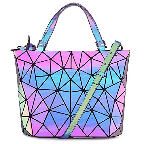 HotOne Shard Lattice Design Bolso geométrico PU Bolsos