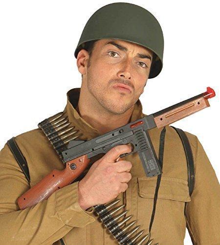 Fancy Me Damen Herren Jungen Mädchen Kinder Spielzeug Schwarz Braun Maschinengewehr Soldaten Militär Kostüm Waffe Zubehör Requisit