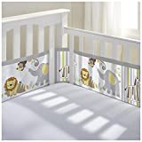 BreathableBaby Breathable Mesh Crib Liner- Safari Fun 2, Multi, 1 Pack