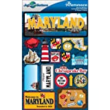 Jet Setters Dimensional Stickers-Maryland