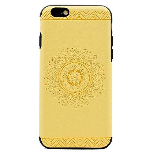 Custodia inShang cover per iPhone 7 4.7 Cellulare,super slim e leggero TPU materiale Cover posterior stili per iPhone7 4.7 inch Yellow printing