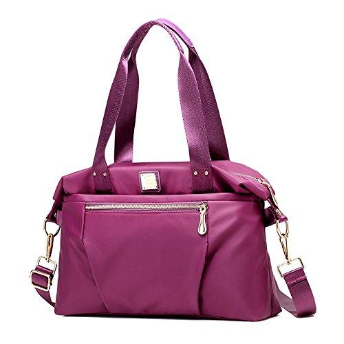 Mefly Die Neuen Wasserdichten Nylon Tasche Tasche Koreanischer Mode Oxford Tuch Schulter Violet
