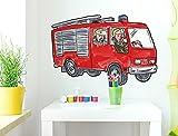 Wandtattoo Kinderzimmer Feuerwehr A...