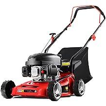 Greencut GLM660SX - Cortacésped tracción manual, motor gasolina (40 cm, 220 V) color rojo