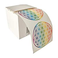 Flower of Life, Sticker, Rainbow Colours (Pack of 50)