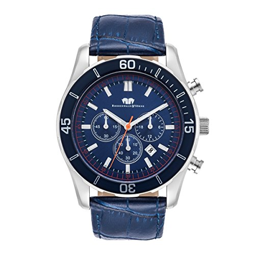 Rhodenwald & Söhne Pageno Chronographe Montre Homme S/BLU 5 ATM 10010235
