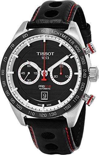 (Tissot Herren Armbanduhr 'PRS 516' Swiss Automatik Edelstahl und Leder Kleid, Farbe: Schwarz (Modell: t1004271605100))
