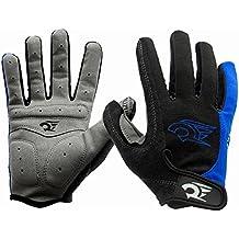 HGDGears Guantes de Ciclismo Gel Almohadilla de Completos Dedos para Bicicleta Mtb Invierno Gloves (M, Azul)