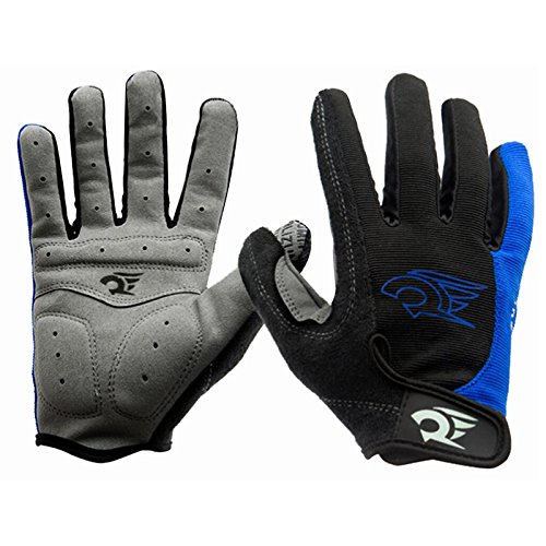 HGDGears Winter Fahrradhandschuhe mit Gel Pad Windproof MTB Rennrad Bike Handschuhe Herren Damen (XL, Blue)