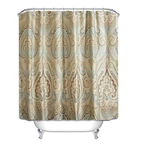Rideau de douche, épaisseur de polyester imperméable à l'eau Protection de l'environnement Mildew 180 * 200cm (rétro fleur) Rideau de douche ( Size : 150*180cm (59*71inch) )