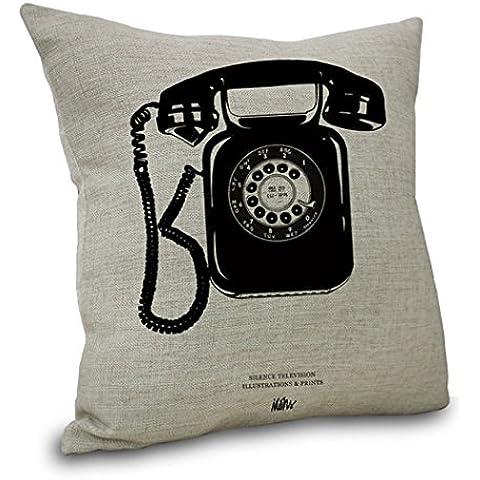 YouLoveHome almohada de lino de algodón cubre funda de sofá casero retro decoración amortiguador tapa 18
