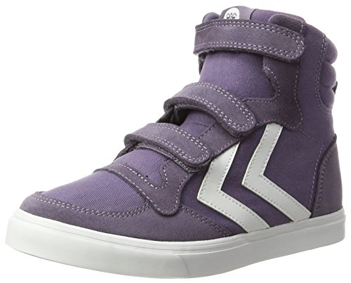 Hummel Unisex-Kinder Stadil Canvas Mono HIGH JR Hohe Sneaker, Violett (Cadet), 36 EU