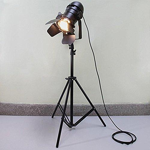 *Stehlampe Stativ Schwarze Stehleuchte/Industrie-Bar Creative Studio Retro Stehleuchte Raum Leuchtturm Stehlampe gewölbt (Farbe : A)