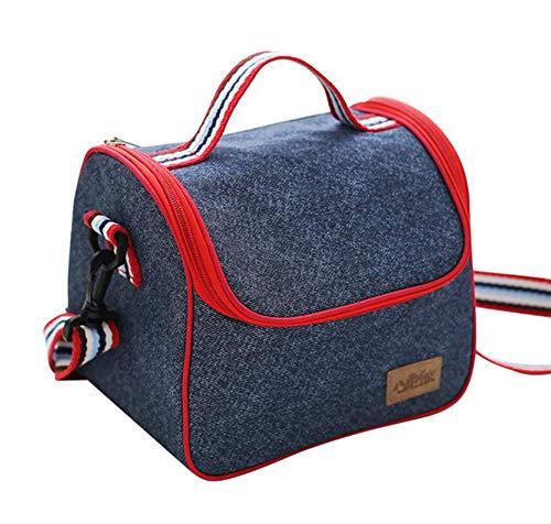 Isolierte Mittagessen Picknick Tasche Portable Outdoor Tasche Für Camping Wandern Auto Reise Blau -