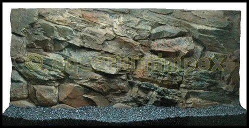 3D Aquarienrückwand 100x50 Rock