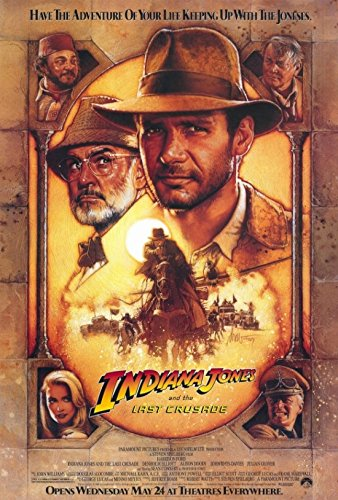 Indiana Jones And The Last Crusade Poster Print (68.58 X 101.60 Cm) Picture