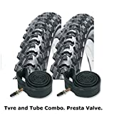 "CST Eiger Mountain Bike Tyres 26"" x 1.95"" (PAIR) & Presta Inner Tubes"