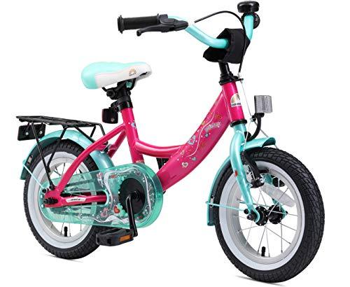 BIKESTAR Kinderfahrrad für Mädchen ab 3-4 Jahre   12 Zoll Kinderrad Classic   Fahrrad für Kinder Pink & Türkis   Risikofrei Testen