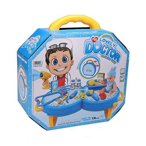 Befied Spielzeug Arztkoffer 18 Set Pcs Mini Kunststoff Simulation Doktor Spielzeug Arzt Rollenspiele für Kinder ab 3 Jahren