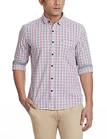 Indigo Nation Men's Casual Shirt (8907372298689_1ISE2572_Red_38)
