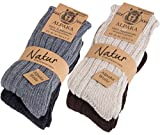 Brubaker 4 Paar Alpaka Socken Multipack 100% Alpaka 39-42 (Sports Apparel)