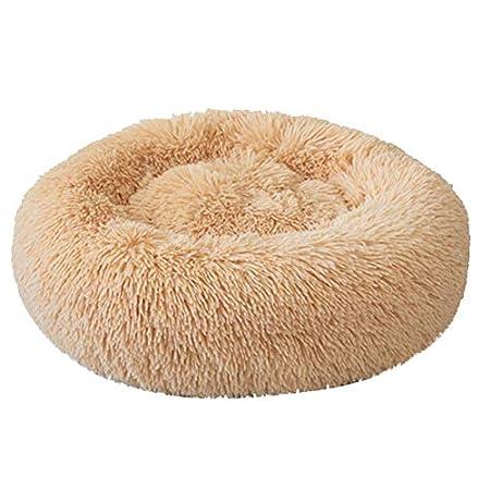 FIRSS Haustierbett Rundes Plüsch Hundebett für Hunde Katzen Kissen Doughnut Form bequem warm Katzenbett Hundesofa Katzensofa