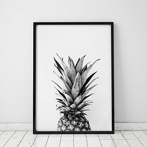 Nordic Ideas Tableau Decoration Murale Salon Impressions sur Toile Poster Noir et Blanc sans Cadre PTPC001-L