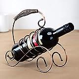 Cantinetta in ferro battuto, lumaca vino portabottiglie vino rosso mensola del vino in vetro display supporto creativo vino utensili per la casa ufficio decorazione