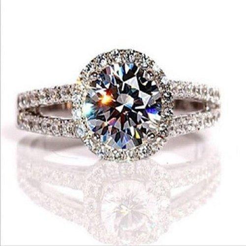 2.00carati VVS1Nscd diamante anello di fidanzamento in