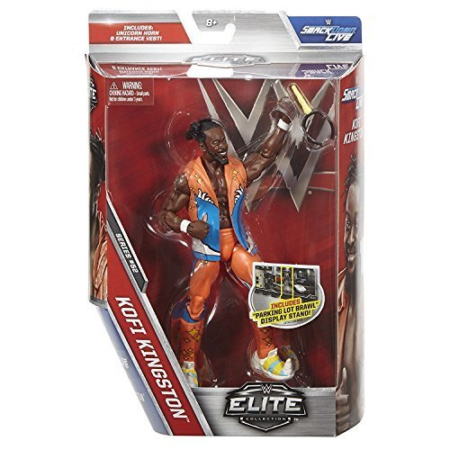 Wwe Mattel Elite Serie 52 Figura de acción de Lucha Libre - Kofi Kingston The New Day con accesorios para Figura Juguete
