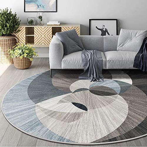 TSDS Alfombra de la Moda Alfombra Antideslizante Moderna y Moderna con alfombras espirales Redondas (Size : 100cm/39.37in)