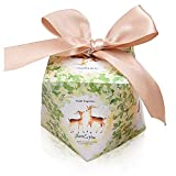 YFZYT Diamant-Form Papier Geschenkbox Schmuck Schachtel Gastgeschenke Süßigkeiten Schokolade Kartonagen Favour Box Gebäck Kästchen für Weihnachten Geburtstage Hochzeiten Babyparty - 50 Stücke(7*7*7.5cm), Hirsch#1