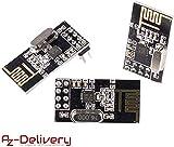 AZDelivery ????? 3 x NRF24L01 mit 2,4 GHz Wireless Module für Arduino, ESP8266, Raspberry Pi -