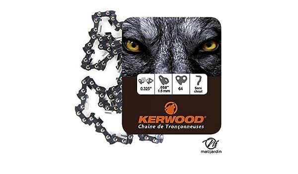 Pi/èce neuve Chaine Kerwood pour DOLMAR PS-4605 0,325 1,5 mm 64 maillons