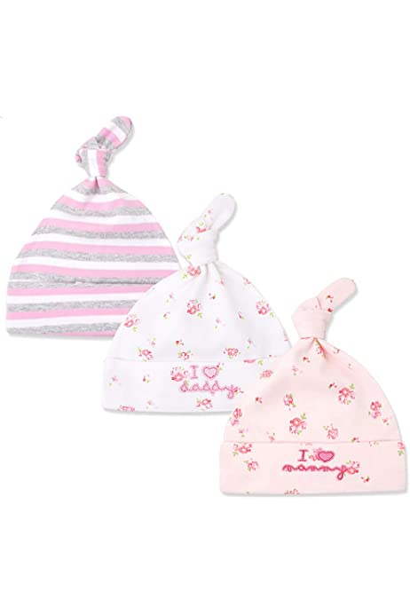 Tukistore Set de 3 Sombrero Gorro de algodón recién Nacido Ceremonia Cumpleaños Sombrero de algodón por 0-6 Meses bebés Niñas: Amazon.es: Electrónica
