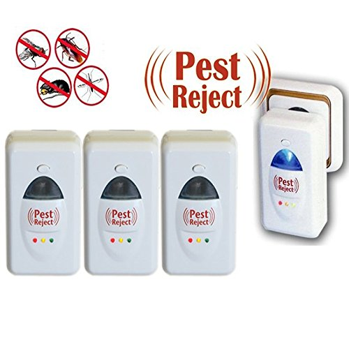 'Pest Reject' toma anti-nuisible Ultrasonic – 4 Pieces