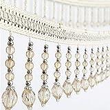 6yards briaded Hängender Perlen Quaste Fransen trimmen Applikation Stoff Band Tape Band Vorhang Tisch Hochzeit verziert beige