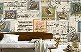 Fototapete Vlies Tapete 3D wallpaper Wanddeko Design Moderne Anpassbare Wandbilder Die Alten Europäischen Hintergrund Mauer Nostalgisch In Die Briefmarke Mauer