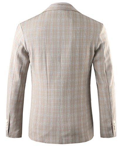Hanayome -  Giacca da abito  - Parka - Classico  - Maniche lunghe  - 100 DEN - Uomo Grey