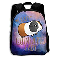 Crazy Guinea Pig Lady Animal Kid Character Casual School Backpacks Shoulder Bag