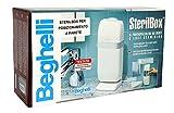 """Beghelli SterilBox il portaspazzolini da denti a luce germicida UV-C """"Modello tutto bianco"""" - solo per posizionamento a parete - no piedistallo"""