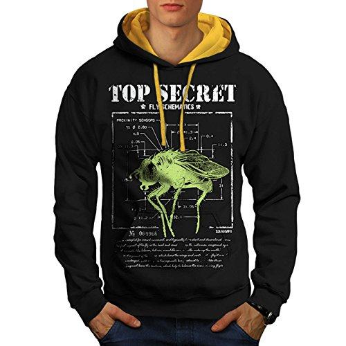 meilleur-secret-mouche-insecte-capteur-homme-nouveau-noir-avec-capuche-dore-l-capuchon-contraste-wel