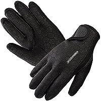 Submarinismo, OBOSOE Premium Guantes de neopreno elástico guantes 1.5 mm para deportes en el agua buceo segeln Surf Negro, small